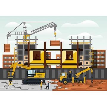 Poszter gyerekszobába, építkezés 13293 (368x254; 254x184)