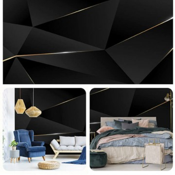 Fekete geometrikus poszter (368x254; 254x184; 416x254 cm) 13557
