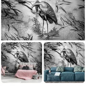 Falhatású poszter madárral (többféle méretben) 13695