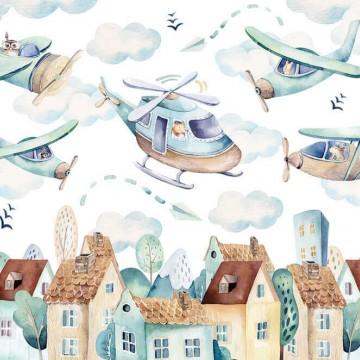 Poszter gyerekszobába repülőkkel 13675 (többféle méretben)