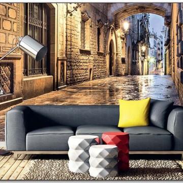 Esti utcakép, poszter 150x250 / 225x250 cm / 375x250 cm (0048)