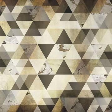 Barna-szürke geometrikus poszter 6025A-VD4 (400x250 cm)