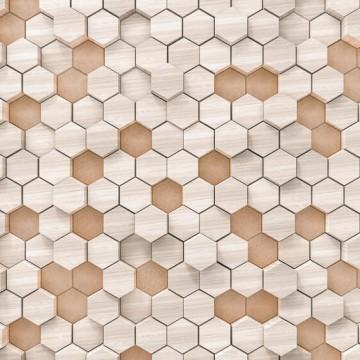 Bézs geometrikus poszter 6005B-VD4 (400x250 cm)