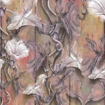 Bézs pasztell virágmintás poszter 6045A-VD4 (400x250 cm)