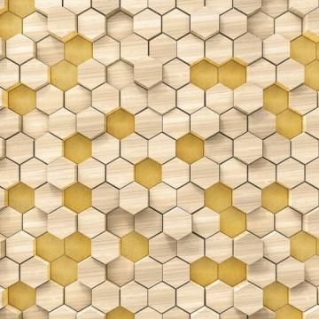 Bézs-sárga geometrikus poszter 6005A-VD4 (400x250 cm)