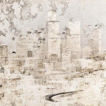 Épület, bézs árnyalatú poszter 6010A-VD4 (400x250 cm)
