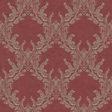 Wll-for elegáns bordó tapéta fényes mintával 1211607