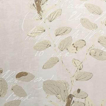 Wll-for elegáns világos bézs árnyalatú tapéta virágmintával 1242401