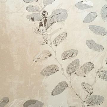 Wll-for elegáns bézs-szürke árnyalatú tapéta virágmintával 1242402