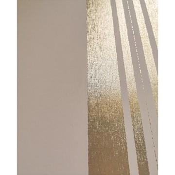 Wll-for bézs-arany csíkos tapéta 1257604