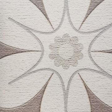 Colorful bézs-barna design tapéta retro stílusú virágmintával  (vlies, 200 x 280 cm)