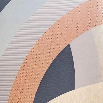 Colorful különleges mintázatú design tapéta, kék és bézs-barna (vlies, 200 x 280 cm)