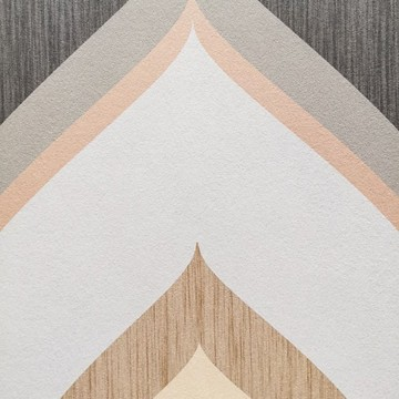 Colorful bézs-barna design tapéta retro mintával  (vlies, 200 x 280 cm)