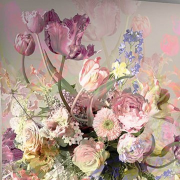 Colorful design tapéta nagy virágmintával (vlies, 200 x 280 cm)