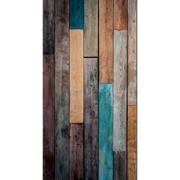 Beautifull Image fa mintázatú poszter, barna-türkiz  (vlies, 200 x 280 cm) 85013424