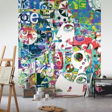 Beautifull Image színes graffiti poszter  (vlies, 250 x 280 cm) 68294456