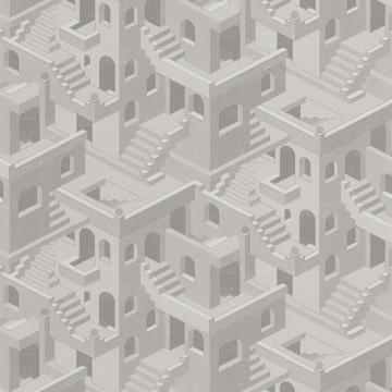 Utopia 1 szürke design tapéta házakkal 85110464