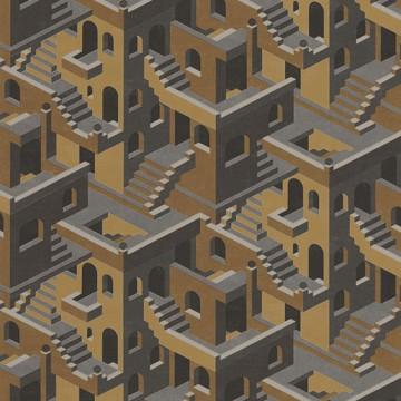 Utopia 1 sárga design tapéta házakkal 85119241