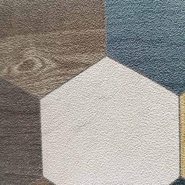 Alice barna-kék geometrikus tapéta (50x280 cm-es panel)  100716020