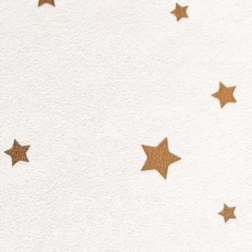 Girl Power fehér-arany csillagos tapéta 100802222
