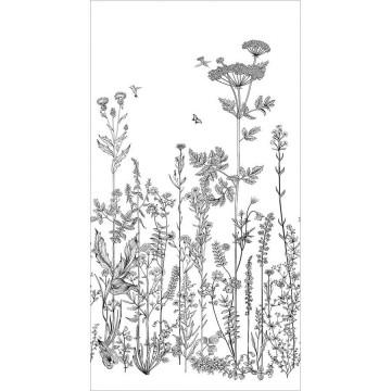 Moonlight fekete-fehér levélmintás posztertapéta (150 x 280 cm)