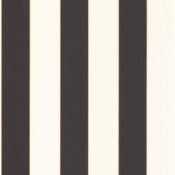 Moonlight fekete-fehér-arany csíkos tapéta