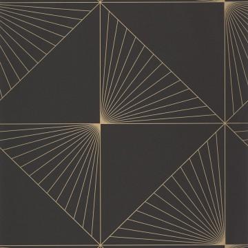 Moonlight fekete-arany geometrikus tapéta