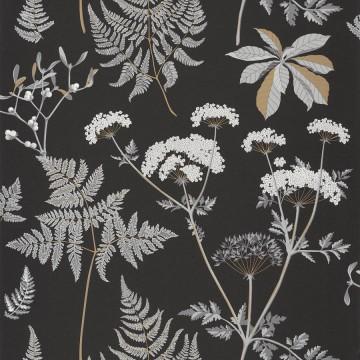Moonlight fekete-fehér virágos tapéta