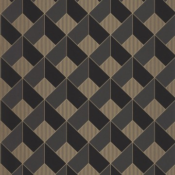 Moonlight szürke-barna geometrikus tapéta
