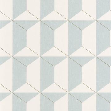 Moove világoskék geometrikus tapéta