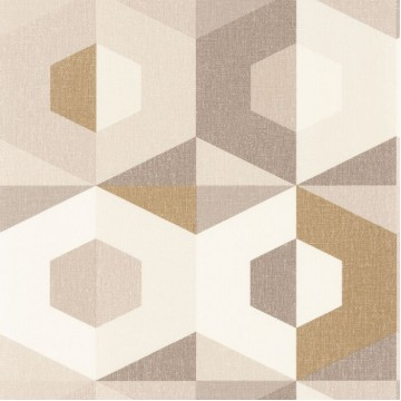 Moove bézs-barna geometrikus tapéta 1919