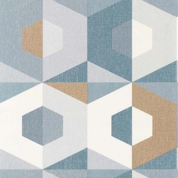 Moove kék geometrikus tapéta 6105