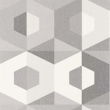 Moove szürke geometrikus tapéta 9102
