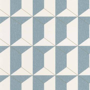 Moove kék geometrikus tapéta 6427