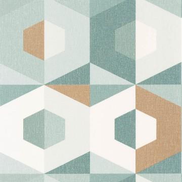 Moove zöld geometrikus tapéta