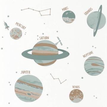 Planet bolygókat ábrázoló tapéta 101907102