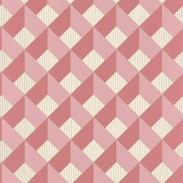 Spaces rózsaszín geometrikus tapéta arany csíkokkal 100124135