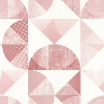 Spaces rózsaszín geometrikus tapéta 100154251