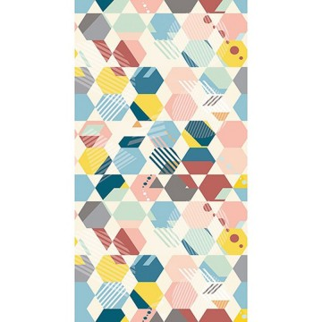 Spaces színes geometrikus posztertapéta (150x280 cm)