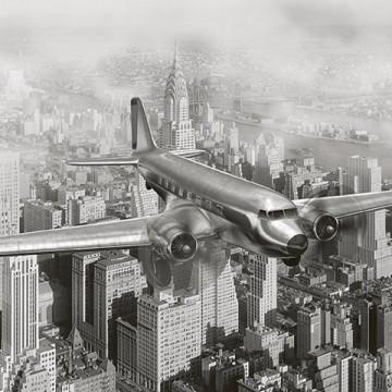 Poszter, repülőgép, fekete fehér 225x250 cm / 375x250 / 375x150 cm (0006)