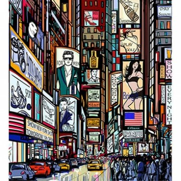 Poszter, város, Times Square 375x250 / 225x250 cm / 150x250 cm (MS-0013)