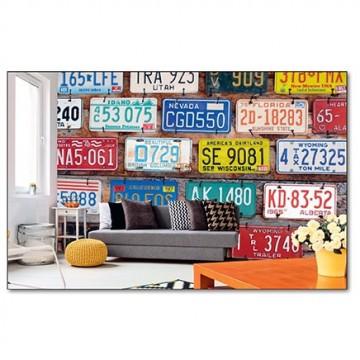 Poszter, rendszámtáblák 375x250 / 225x250 cm / 150x250 cm (MS-0269)