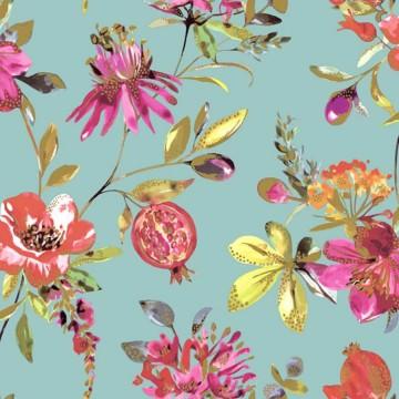 Elements színes virágmintás tapéta 90430