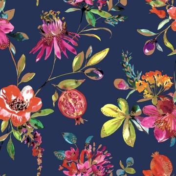 Elements színes virágmintás tapéta 90431