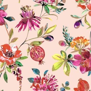 Elements színes virágmintás tapéta 90432