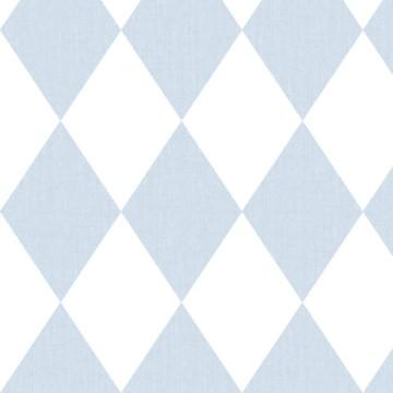Babylandia kék rombuszmintás tapéta 5429