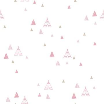 Babylandia rózsaszín tapéta sátrakkal 5442