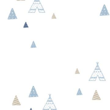 Babylandia kék tapéta sátrakal 5443