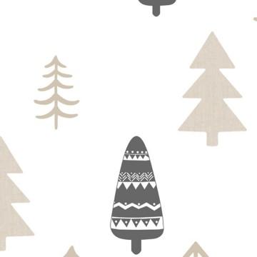 Babylandia bézs tapéta fenyőfa mintával 5465
