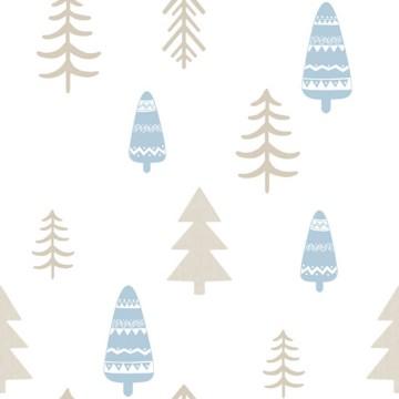 Babylandia kék tapéta fenyőfa mintával 5466